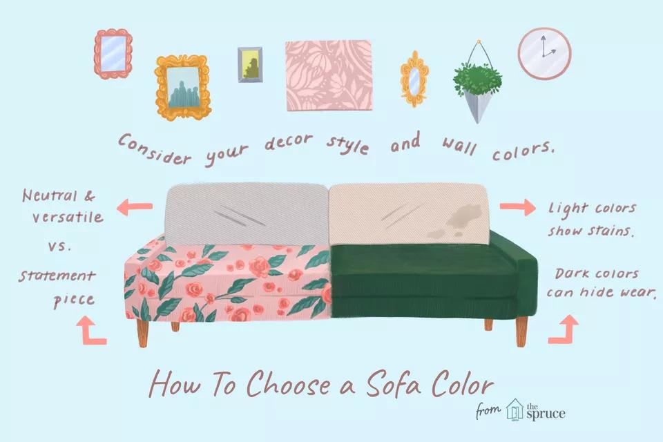 راهنمای انتخاب رنگ مبل راحتی